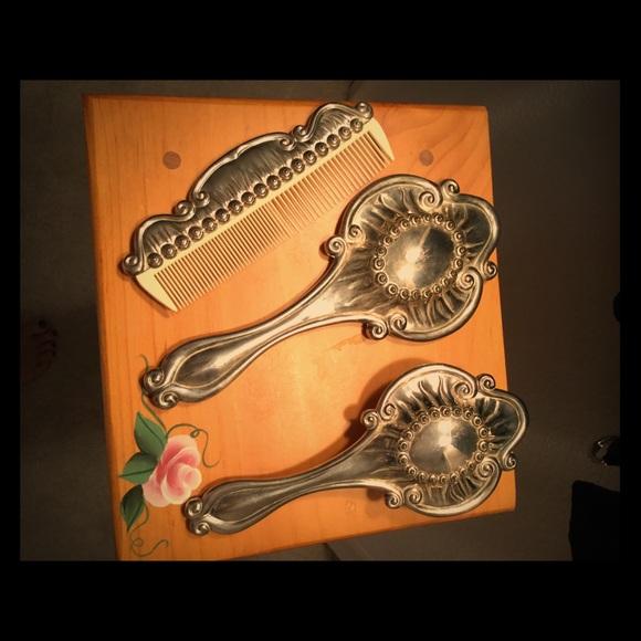 International Silver Company Other Vintage Vanity Silver Mirrorbrushcomb Set Poshmark